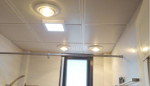 Đèn sưởi âm trần 1 bóng phòng tắm tiện ích