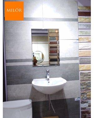 Gương phòng tắm chữ nhật mài vát ML 1001