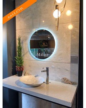 Gương tròn đèn led phòng tắm milor 60cm