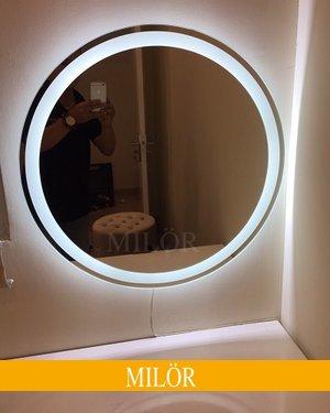 Gương tròn bàn trang điểm có đèn led