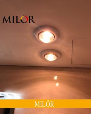 Đèn sưởi âm trần nhà tắm 1 bóng Milor