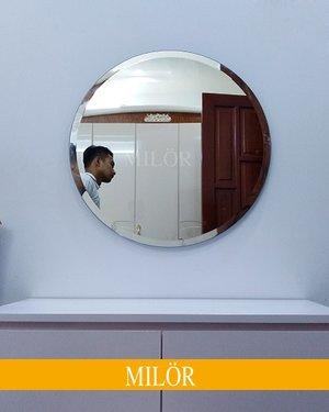 Gương tròn bàn trang điểm mài vát 60cm