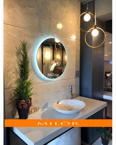 Gương phòng tắm bỉ đèn led hắt Milor 60cm