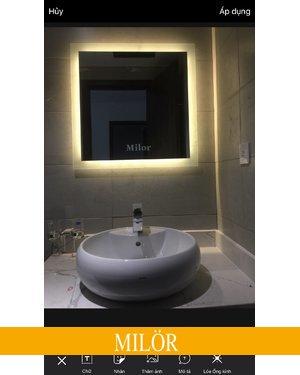 Gương phòng tắm đèn led 60cm