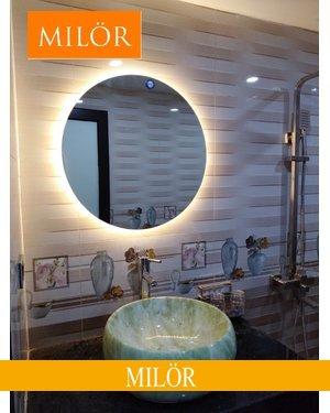 Gương đèn led hắt ngoài Milor đường kính 60cm