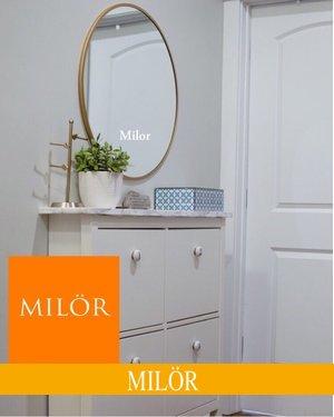 Gương tròn Decor treo phòng khách Milor