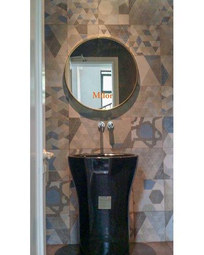 Gương tròn khung vàng gold phòng tắm oras 60cm