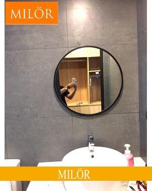 Gương tròn decor phòng tắm Optima 60cm
