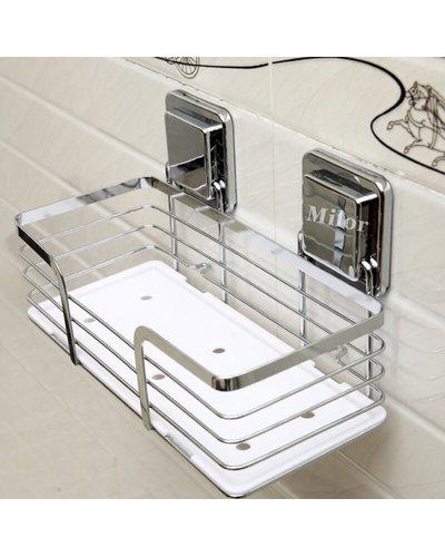 Kệ inox phòng tắm không khoan tường milor Gs-5013