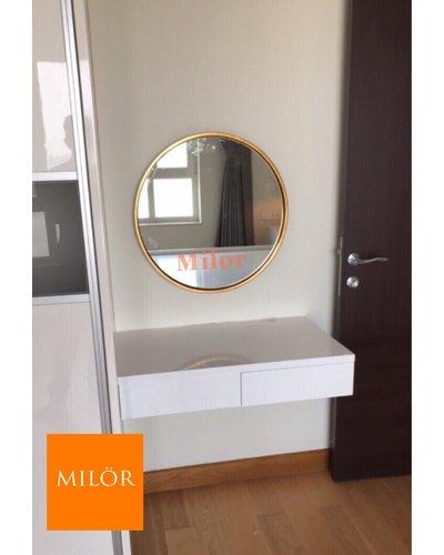 Gương  tròn đèn led  bàn trang điểm đẹp Milor