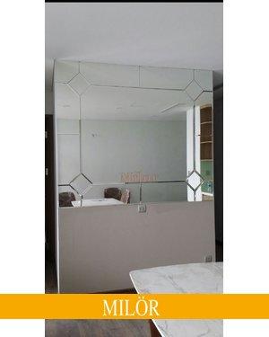 Gương trang trí ghép tường phòng ăn hiện đại Milor