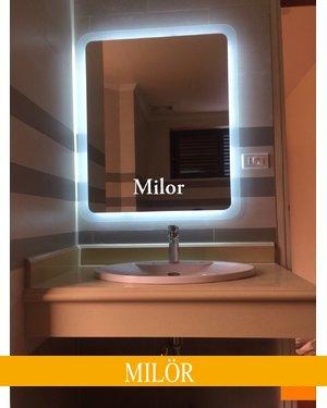 Gương đèn led hình chữ nhật phòng tắm