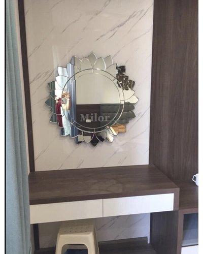Gương trang trí đẹp SUNFLOWER phòng khách Milor
