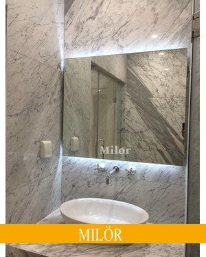 Gương đèn led trắng hình chữ nhật phòng tắm Nam Định