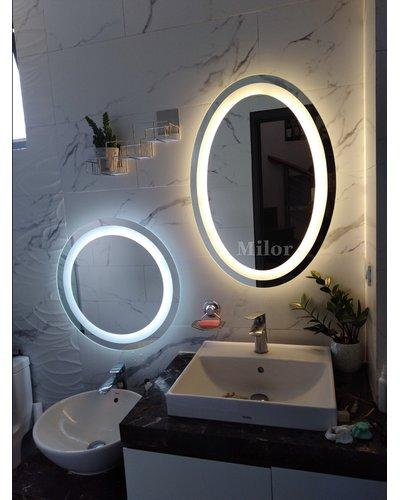 Gương phòng tắm tròn led trắng Milor D60cm