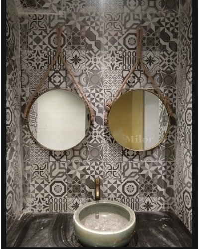 Gương phòng tắm Decor dây thừng Milor