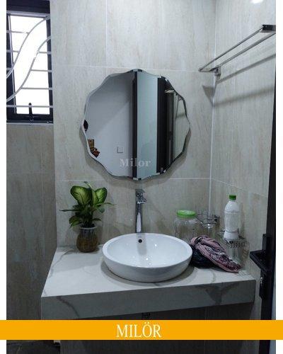 Gương phòng tắm mài vát nghệ thuật Milor 543C