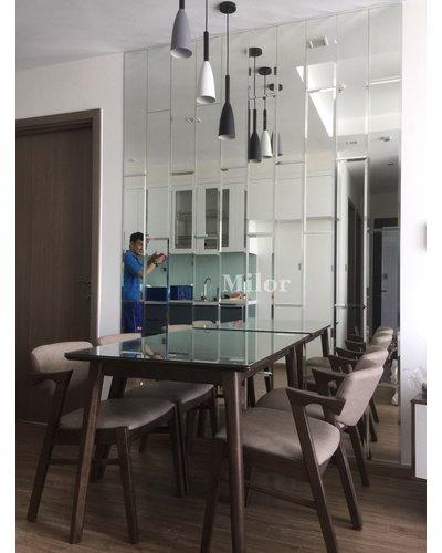 Gương ghép thẳng bàn ăn phòng khách Milor
