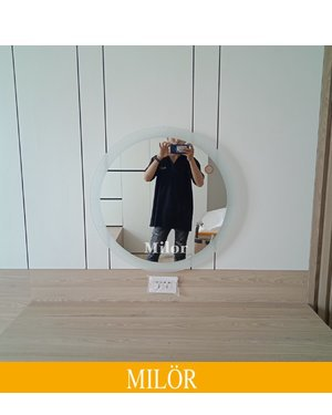 Gương tròn đèn led trang điểm đẹp 80cm