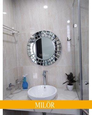 Gương phòng tắm cao cấp milor nghệ thuật the sun 60cm