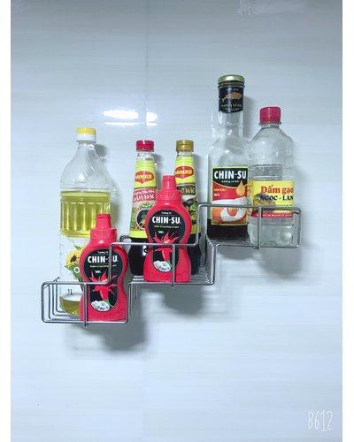 Kệ inox dán tường bếp siêu bền Milor GS-5015