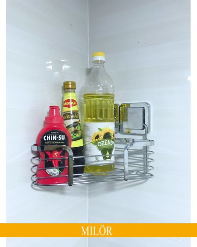 Kệ góc inox cho bếp dán kính tiện ích GS-5010
