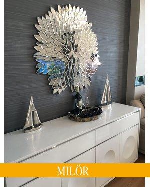 Gương Natural cao cấp trang trí phòng khách sang trọng