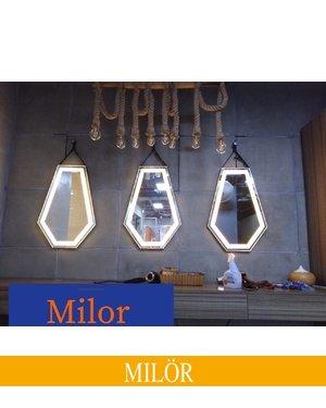 Gương dây da đèn led Daimond
