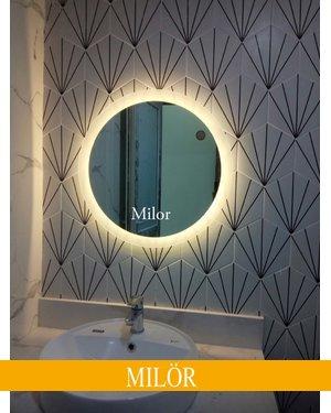 Gương nhà tắm led tròn hắt sáng Milor phi 60cm