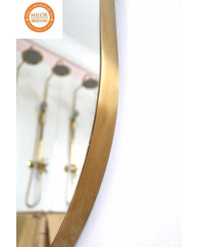 Gương soi toàn thân khung inox 304 mạ vàng Milor