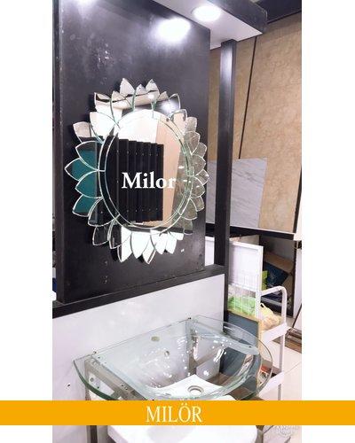 Gương treo phòng tắm nghệ thuật Milor sunflower
