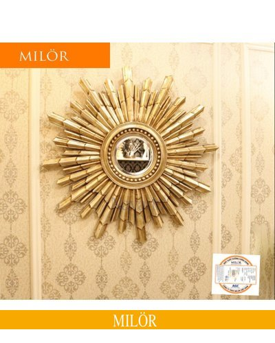 Gương trang trí decor treo tường Milor Hedes gold