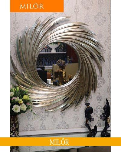 Gương trang trí decor treo tường nghệ thuật Nut Silver