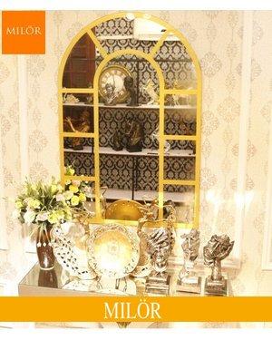Gương decor treo tường phòng khách Milor Cửa sổ