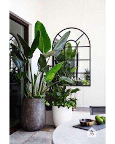 Gương nghệ thuật treo tường phòng khách Milor Cửa sổ