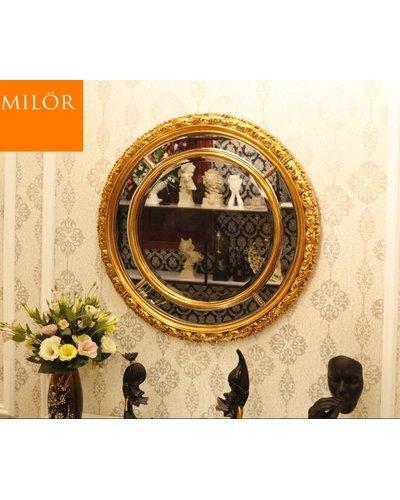 Gương phòng khách tròn Milor cổ điển Aura