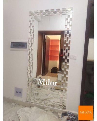 Gương soi toàn thân nghệ thuật phòng khách Milor