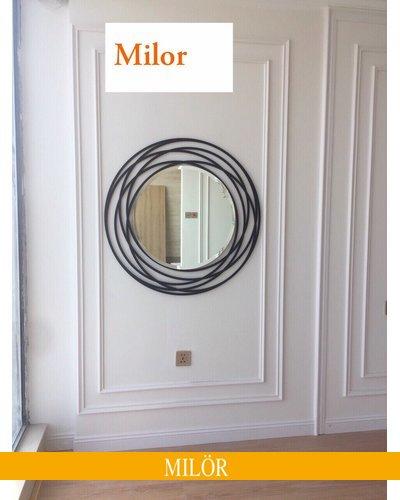 Gương treo phòng khách nghệ thuật trang trí galaxy 80cm