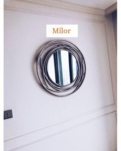 Gương treo tường phòng khách Julia silver