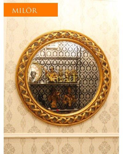 Gương phòng khách tròn Milor cổ điển Helios