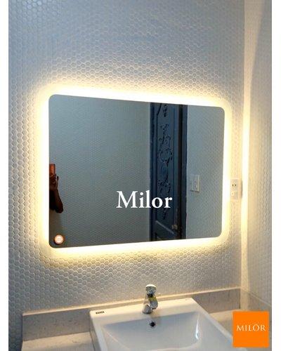 Gương nhà tắm đèn led chữ nhật Milor