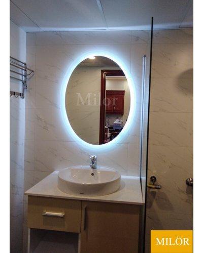 Gương nhà tắm đèn led elip Milor
