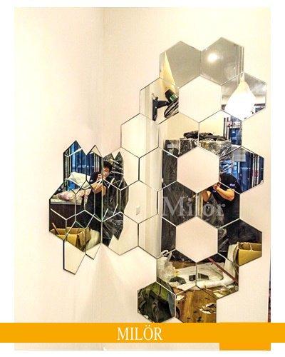Gương Ghép Tường Hình Tổ Ong Hải Phòng
