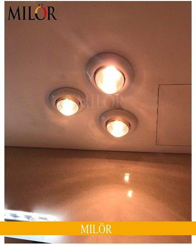 Đèn Sưởi Nhà Tắm Âm Trần 3 Bóng Hòa Bình