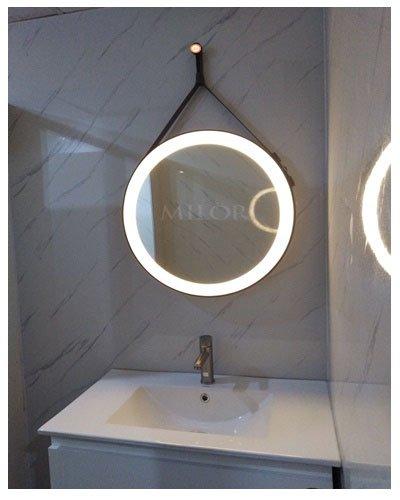 Gương Dây Da Đèn Led Phòng Tắm Hiện Đại