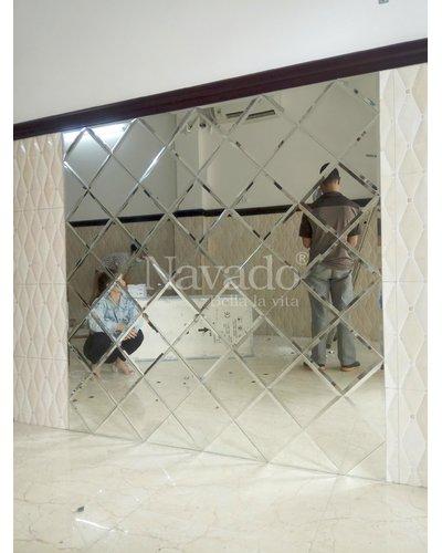 Gương ghép tường cao cấp phòng khách Milor