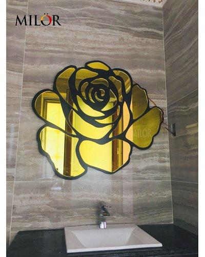 Gương nghệ thuật Phòng tắm Hoa Hồng