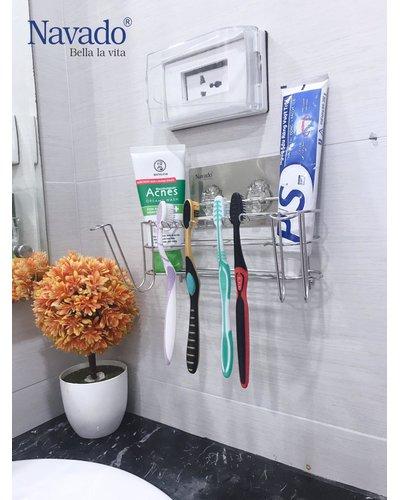 Kệ bàn trải inox phòng tắm không khoan tường GS-3014