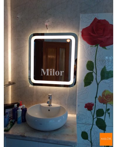 Gương hiện đại đèn led treo dây da bò Milor