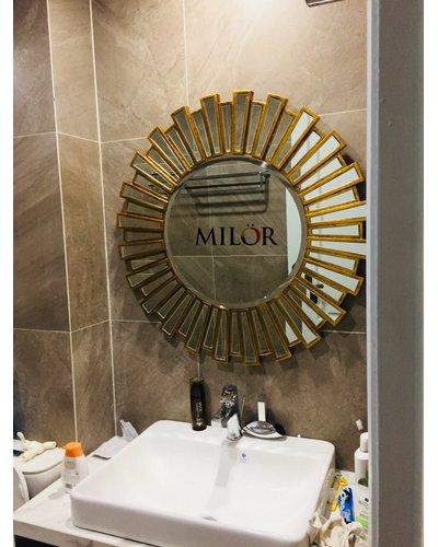 Gương Athena gold tân cổ điển phòng khách